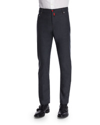 Kiton Five Pocket Wool Pants Gray