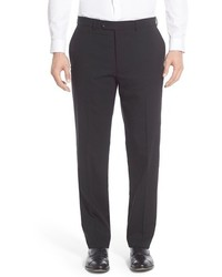 Flat front solid stretch wool trousers medium 584706