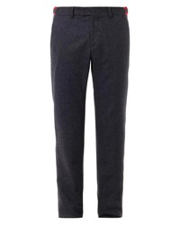 Gucci Flat Front Wool Blend Trousers