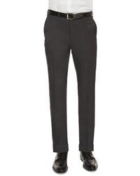Ermenegildo Zegna Flat Front Wool Trousers