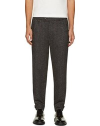 Moncler Gamme Bleu Gray Wool Tweed Trousers