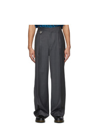 We11done Grey Classic Tailored Trousers