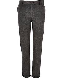River Island Grey Donegal Wool Blend Skinny Pants