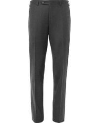 Canali Grey Firenze Slim Fit Super 120s Wool Trousers