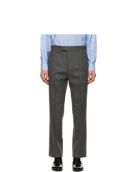 Gucci Grey Flannel Mushrooms Trousers