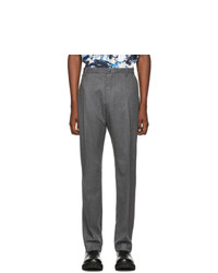 Kenzo Grey Flannel Slim Trousers