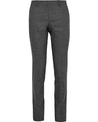 Wooyoungmi Grey Slim Fit Slub Wool Trousers