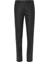 Maison Margiela Grey Slim Fit Wool Flannel Trousers