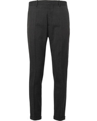 Marni Grey Slim Fit Wool Suit Trousers