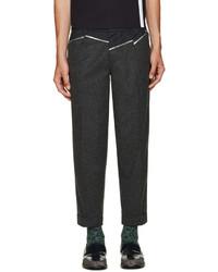 Kolor Grey Wool Panelled Trousers