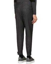 Neil Barrett Grey Wool Trouser