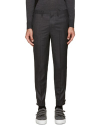 Neil Barrett Grey Wool Trouser