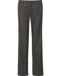 Alice + Olivia Hart Herringbone Wool Blend Straight Leg Pants