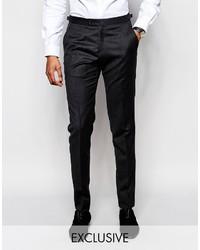 Hart Hollywood By Nick Hart 100% Wool Suit Pants In Slim Fit