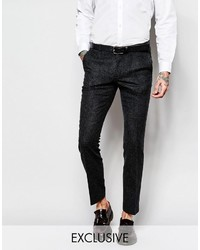 Heart Dagger Houndstooth Suit Pants In Super Skinny Fit