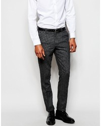 Selected Homme Wool Check Suit Pants In Skinny Fit