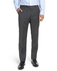 BOSS Leenon Regular Fit Solid Wool Trousers