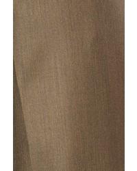 Santorelli Luxury Serge Double Pleated Wool Trousers