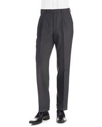 Lauren Ralph Lauren Mid Weight Pleated Wool Trouser Pants