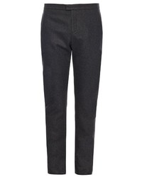 Burberry Prorsum Slim Leg Cashmere And Wool Blend Trousers