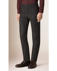 Burberry Prorsum Tapered Leg Cashmere Wool Trousers
