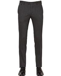 Pt01 19cm Slim Stretch Wool Blend Trousers