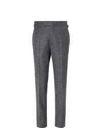 Kingsman Rocketman Grey Slim Fit Wool Flannel Suit Trousers