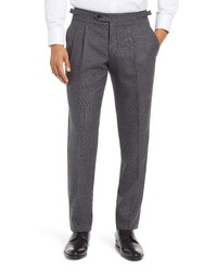 Ted Baker London Roy Fit Pleated Wool Trousers