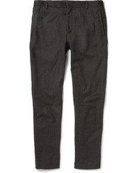 Lanvin Slim Fit Cropped Wool And Cashmere Blend Trousers