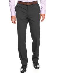 Kenneth Cole New York Slim Fit Grey Tic Dress Pants