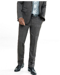 Express Slim Gray Wool Blend Twill Suit Pant