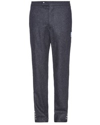 Moncler Gamme Bleu Slim Leg Wool Flannel Trousers