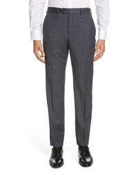 Emporio Armani Solid Wool Trousers