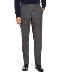 John W. Nordstrom Torino Traditional Fit Solid Wool Cashmere Trousers