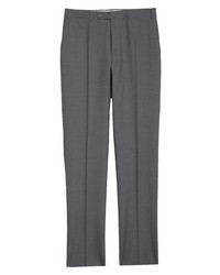 Canali Tropical Solid Wool Trousers