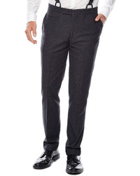 Asstd National Brand Wdny Charcoal Twill Flat Front Suit Pants Slim Fit
