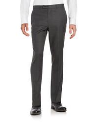 Kenneth Cole New York Wool Blend Straight Leg Pants