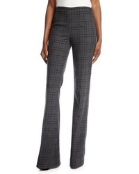 Michael Kors Michl Kors Collection Plaid Stretch Flannel Flare Leg Pants