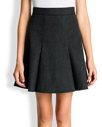 Wool cashmere pleated skirt medium 83957