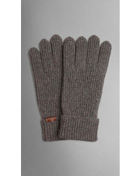 Burberry Cashmere Wool Rib Gloves
