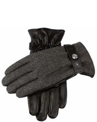 Dents Gloves Dents Guilford Wool Flannel Back Gloves In Charcoalblack