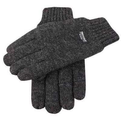 Plain Gloves Knitting Pattern : Charcoal Wool Gloves: Dents Plain Knitted Gloves Charcoal Where to buy &...