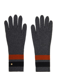 Burberry Grey Merino Monogram Gloves