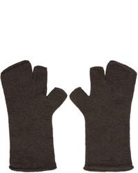 Grey wool fingerless gloves medium 774308