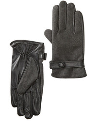 Amicale Leather Merino Wool Gloves