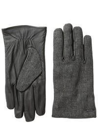 Scotch & Soda Woolen Leather Gloves