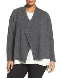 Plus size felted merino sweater jacket medium 827732