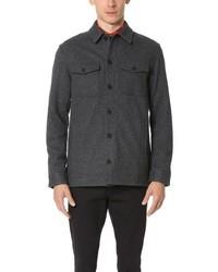 Charcoal Wool Long Sleeve Shirt