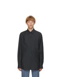 Valentino Grey Mohair Cinch Shirt