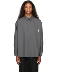 Marni Grey Virgin Wool Shirt